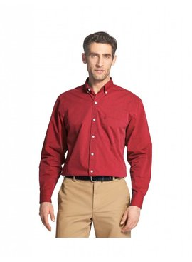 Izod Essential Stretch Long-Sleeve Button-Down Shirt