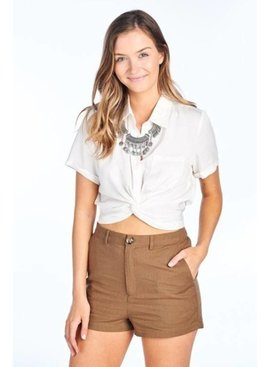 BD Collection Ruby Crop Twist Shirt