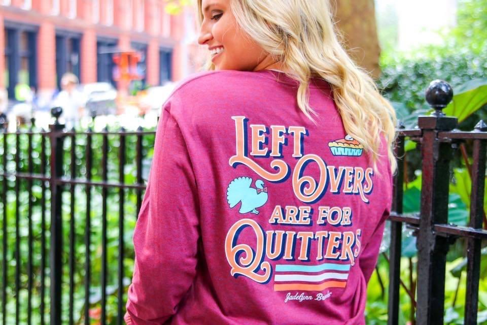 Jadelynn Brooke JLB Leftovers Are For Quitters V Neck Heather Wine