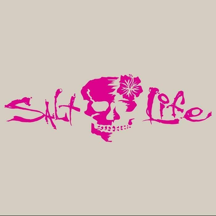 Salt Life Salt Life Signature Hibiscus Skull Decal