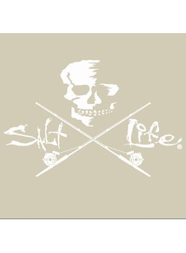 Salt Life Salt Life Skull and Trolling Medium Decal