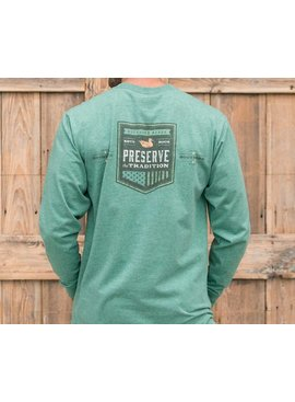 Southern Marsh Southern Tradition Crest Tee - Long Sleeve