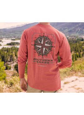 Southern Marsh Branding Tee - Compass - Long Sleeve