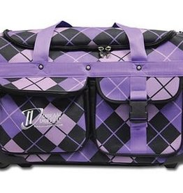 Dream Duffel Small Bag Purple Argyle