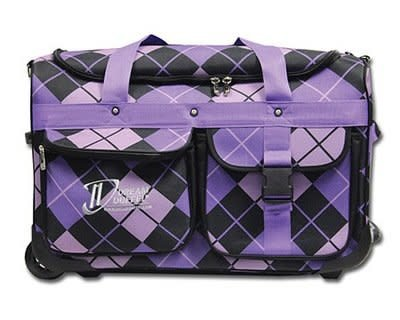 Dream Duffel Small Bag Purple Argyle with Accessory Package