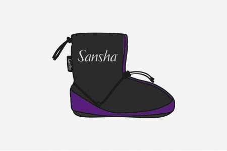 Sansha purple warm up bootie