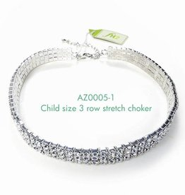 FH2 AZ0005-1 3 row Child Crystal Choker