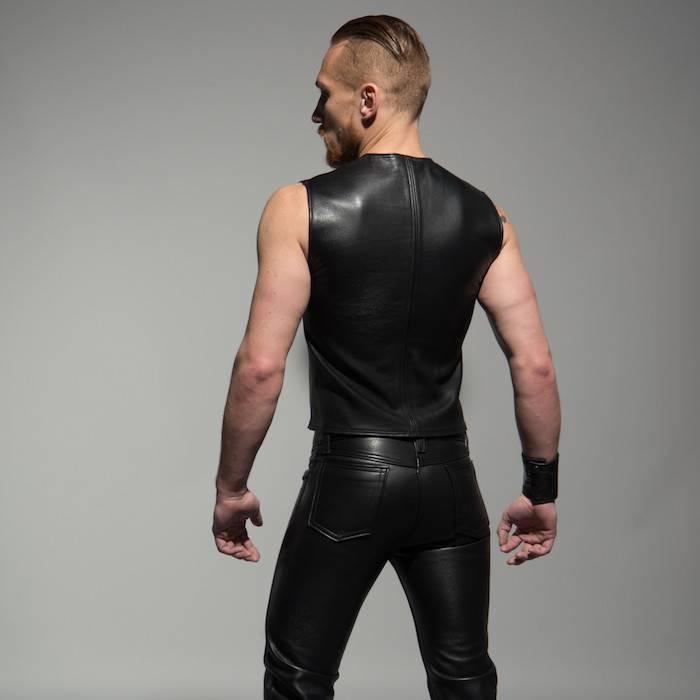 Zipper Front Sleeveless Shirt