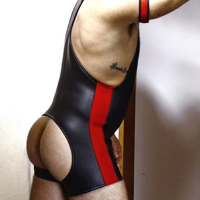 Neoprene, Wrestling Suit, Open Front and Back