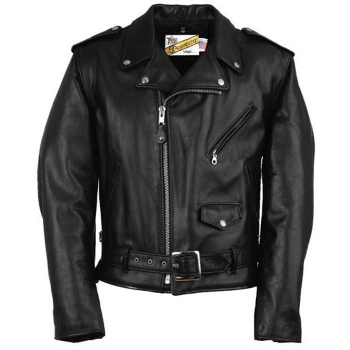Classic Perfecto Leather Motorcycle Jacket (118)