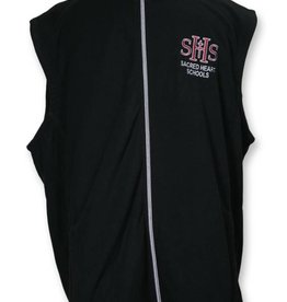 Ladies Microfleece Vest Blk