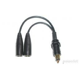 Powerlet Powerlet/BMW male to 2 Powerlet/BMW female sockets