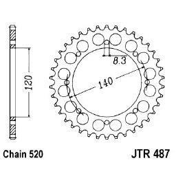 JT Sprockets 43 tooth steel sprocket