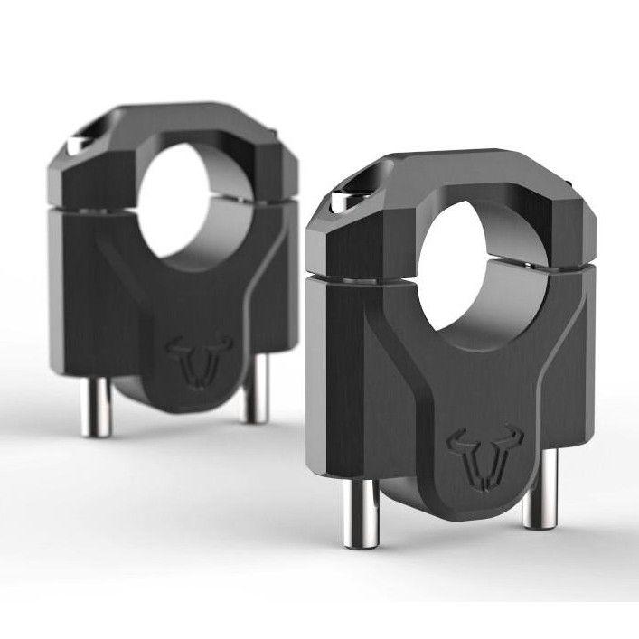 SW-Motech Handlebar Risers for 2013+ R1200GS LC, 40mm, Black