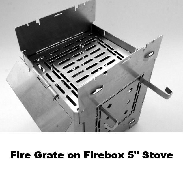 "Firebox Fire Grate for 3"" and 5"" Stoves"
