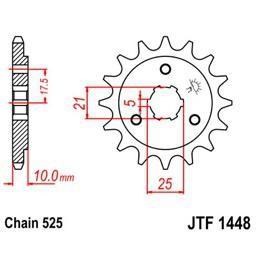 JT Front Steel Sprocket for DR650 - 14 Tooth