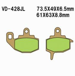 Vesrah Sintered Metal Brake Pads KLR650 Rear