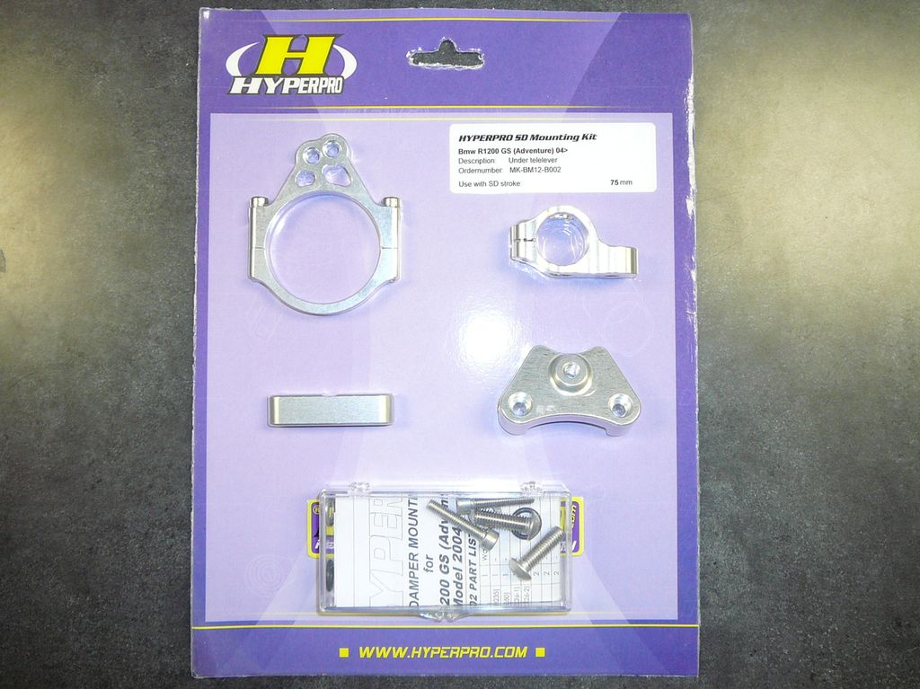 Bike specific mount kit for Hyper Pro Steering Damper