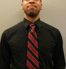 Spirit Item SJC Red Black Striped Tie