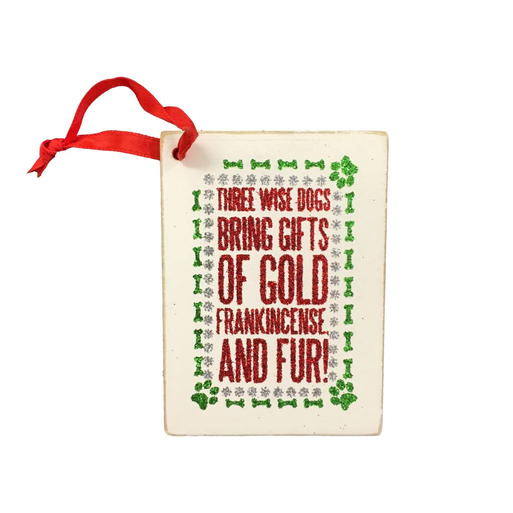 Three Wise Dogs Gift Tag