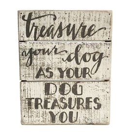 Sign-Treasure Dog