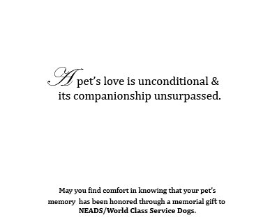 Memorial Cards-Love is Unconditional