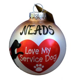 Bronners Christmas Wonderland Ornament-Love my Service Dog