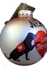 Bronners Christmas Wonderland Ornament-Love my Service Dog