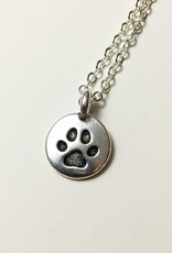 Bella Boutique Silver Paw Charm Necklace