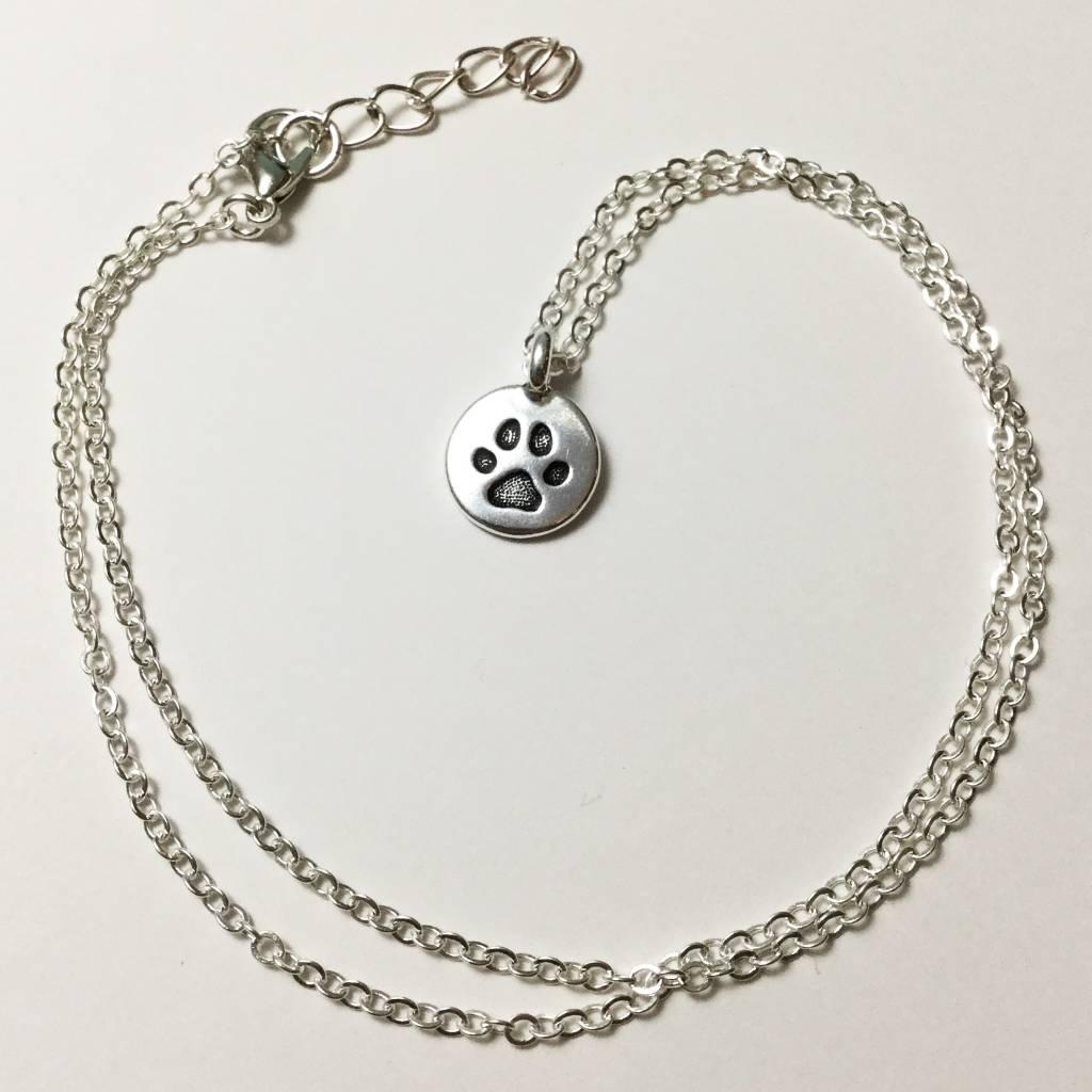Bella Boutique Silver Paw Charm Necklace