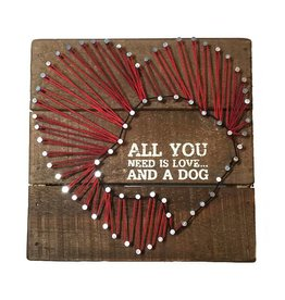 Sign-String Art Love and a Dog