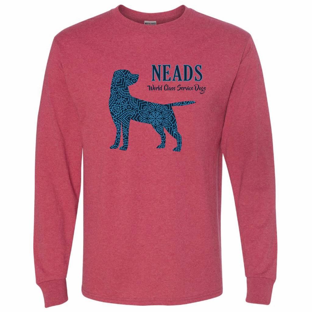 Jerzees Unisex Long Sleeve T- Pattern Dog