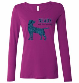 Women's Long Sleeve T-shirt- Pattern Dog