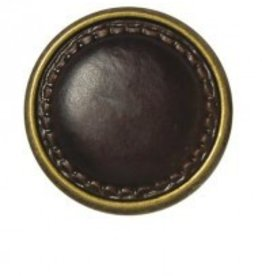 Bergere de France Set of 4 Leather look metal buttons, 22 mm