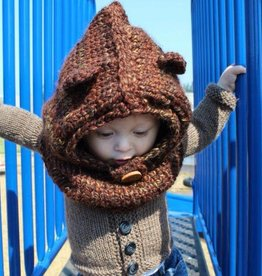 Baby/Toddler Handknit Bear Hat