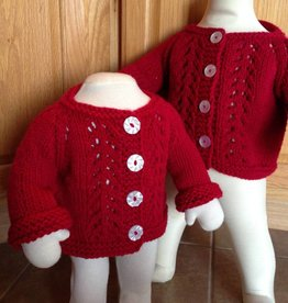 Knit Red Inspiration Cardigan and Hat Pattern