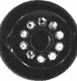 ELAN - 249628E - 18mm Rhinestone Shank Button, Black
