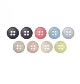 Bergere de France Set of 7 Buttons with 4 Holes, 11 mm