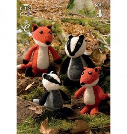 King Cole King Cole Pattern 9011 DK Fall Animals