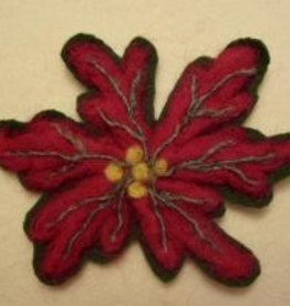 Fiber Trends Felting Kit - Poinsettia - Red