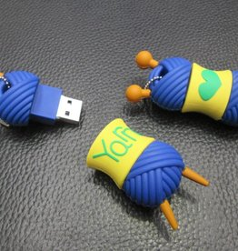 4GB USB Ball of Yarn Flash Drive Key Ring