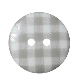 "Cirque CIRQUE Novelty 2-Hole Button - 20mm (3/4"") - Plaid"
