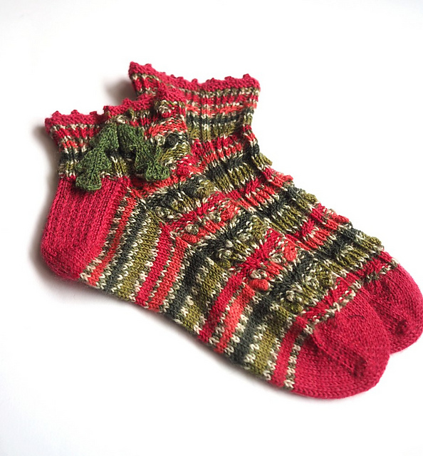 Holly Berry Socks
