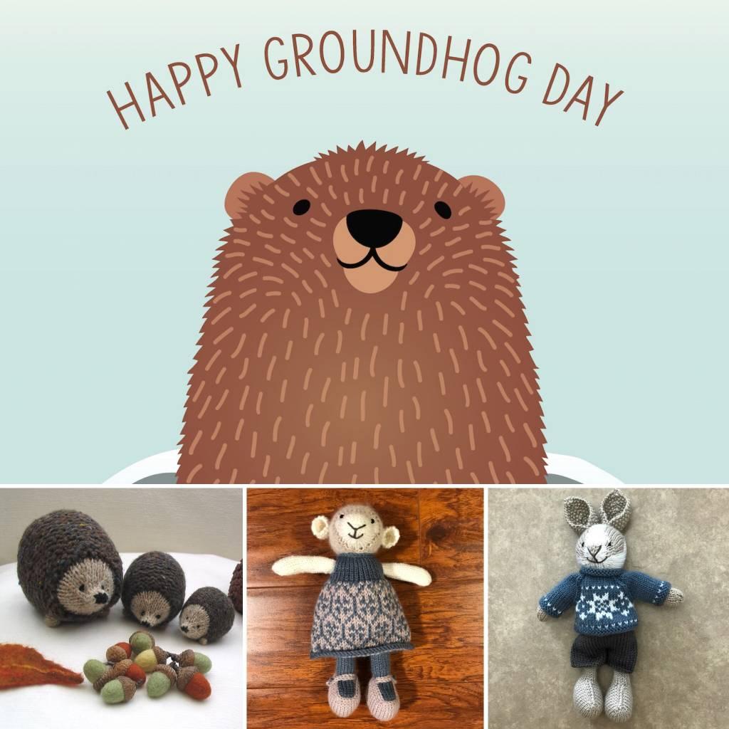 Free Pattern Fridays - Friday, February 2, 2018: It's Groundhog Day...