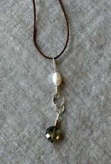 Wool & Wire Wool & Wire Stitch Marker Necklace (Linen Cord)