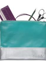 Colourblock Zippered Bag