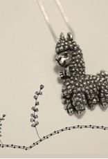Furls Freddie: Adorable Pewter Alpaca Pendant