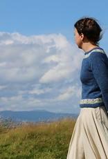 Jamieson & Smith Bluebells - Kate Davies Pullover Kit  40.5