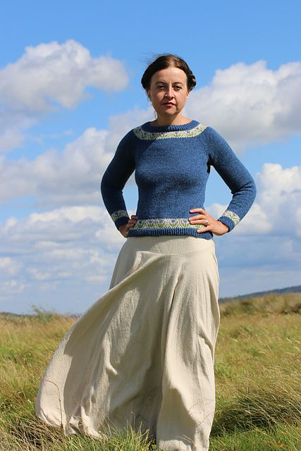 Jamieson & Smith Bluebells - Kate Davies Pullover Kit  40.5