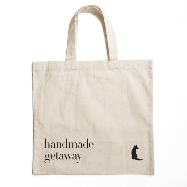Getaway Press Fabric, Friends & Food Tote Bag